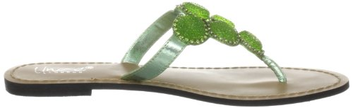 Unze Evening Slippers, Sandali infradito donna Verde (Grün (L18826W))