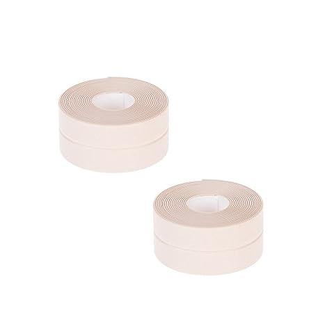 2 Pack Self Adhesive Corner Line Waterproof Tape Kitchen Bathroom Seams Protector Tub & Wall Caulk Strip Mildew proof Bumper Strip, 3M by Sunsang