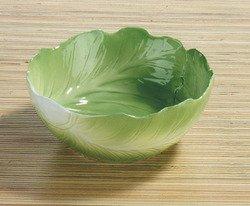 Summit Grün Kohl Salatschüssel Collectible Gemüse Keramik Glas Platte (Home Platten)