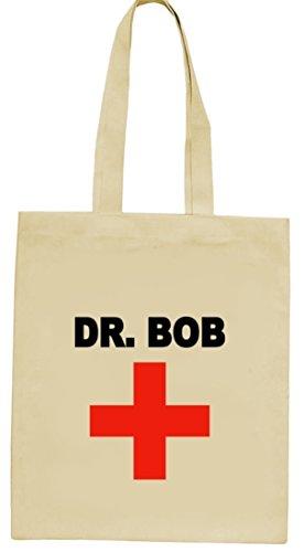 Karneval Fasching Arzt Ärzte Jutebeutel natur Dr. Bob Natur