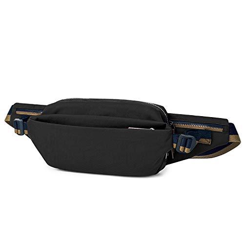 Wind Took Gürteltasche Bauchtasche Hüfttasche Schultertasche für Reise Wanderung Outdoor Damen und Herren, 8411-schwarz