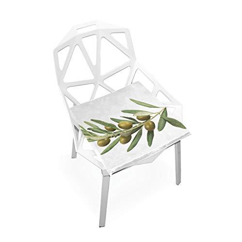 Oliven Grün Cartoon Benutzerdefinierte Weiche Rutschfeste quadratische Memory Foam Chair Pads Kissen Sitz für Home Kitchen Esszimmer Büro Schreibtisch Möbel Indoor 16 x 16 Zoll -