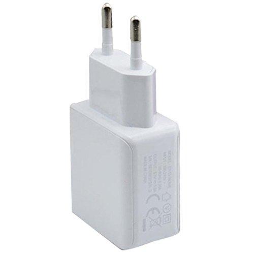 Ouneed® EU Stecker,3A 2 Ports EU Stecker USB Wand Spielraum Wechselstrom Ladegerät Adapter für Samsung Galaxy für iPhone (Weiß) (Wechselstrom-wand-ladegerät-adapter)