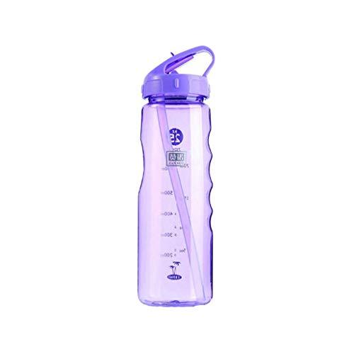 Tianba Trinkflasche Outdoor Flip Stroh Wasserflasche Laufen Camping Auslaufsicher Sportflasche Schule, Sport, Fahrrad