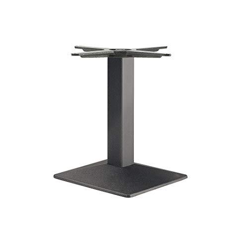 Gedotec Säulen-Tischgestell eckig Möbelfuß höhen-verstellbar Tischbein schwarz - Modell EES 500 | Höhe 500 mm | Tisch-Gestell mit verstellbaren Bodengleiter | 1 Stück - Design Tischfuß Untergestell