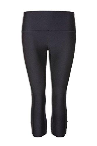 Ex Marks & Spencer Damen Capri-Leggings mit Lycra - Schwarz 46 Lycra Capri Leggings