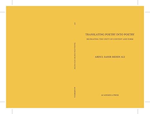 Translating Poetry Into Poetry por Abdul Sahib Mehdi Ali