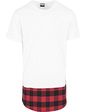 Urban Classics Herren Langarmshirt T-Shirt Shaped Flanell Bottom Tee