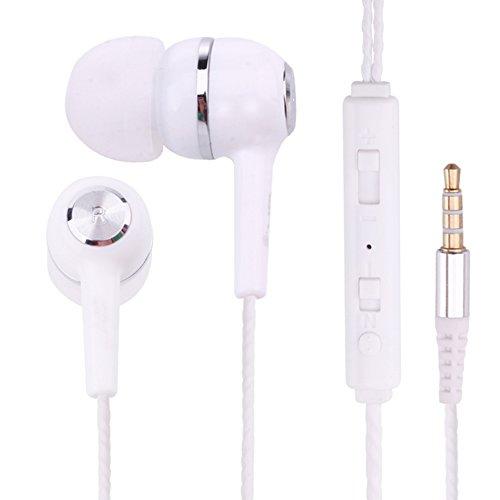 thanly 3,5mm Inline-Control Headsets Kopfhörer Universal In Ear Stereo Kopfhörer geräuschisolierend Ohrstöpsel Lautstärkeregler und Mikrofon für Apple iPhone iPod iPad Samsung Galaxy LG HTC