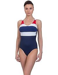 "ROSME Lingerie Damen Bademode Strandkleidung One-Piece Badeanzug, Kollektion ""Nautical Party"", Größe 38G/75G"