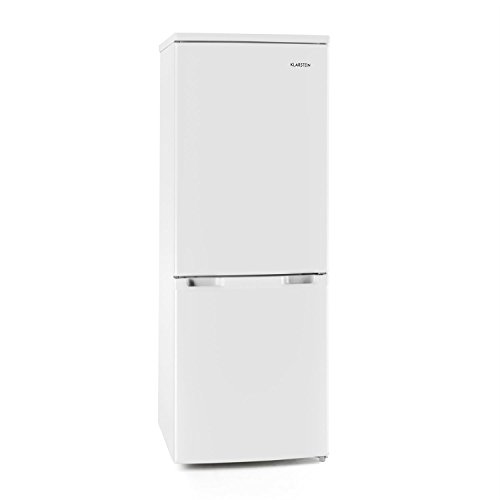 Klarstein Bigpack • Kühl- und Gefrierkombination • 115 Liter Kühlschrank • 45 Liter Gefrierfach • 3 Glas-Ablagen • Gemüsefach • 3 Türablagen • stufenlose Temperatureinstellung • manuelle Abtauung • verstellbare Standfüße • weiß