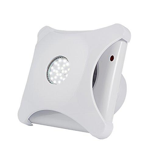 Inline-Lüfter, HG POWER 4 Zoll Abluftventilator Ultra-leise mit Effiziente Belüftung mit geführtem Licht 5W, Wand-Ventilator für Küche/Badezimmer / Schlafzimmer/Büro (G-LED)