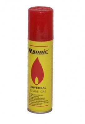Rsonic Universal Butan Feuerzeuggas (100ml) - Mit Steck Adaptern zum Nachfüllen von Feuerzeugen