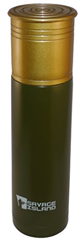 500ml/750ml Thermoflasche aus Edelstahl von Savage Island Schrotflinte Patrone Geschenk Jagd