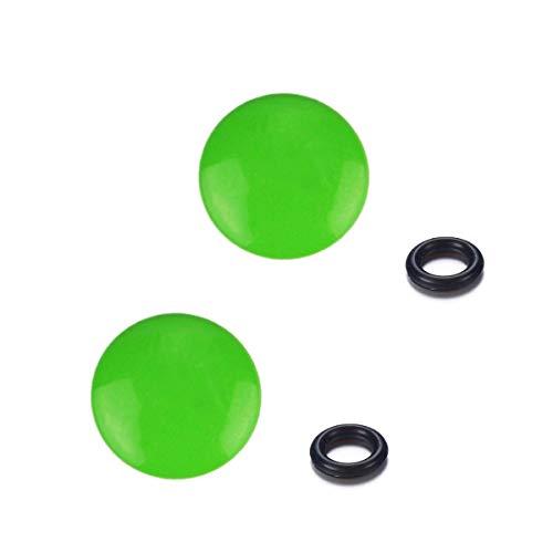 LXH 2 Stück grün konvex Soft Release-Taste Finger Touch Passt in jede Standard Threaed-Version für Fujifilm XT20/10 X100F X-T2 X100T X-PRO1/2 X100S X10/20/30 Leica M-Serie Olympus PEN-F -