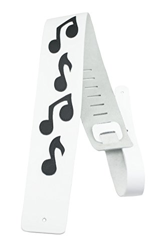 Perris Leathers BMN-1254 Verstellbarer Gitarrengurt mit Musiknoten, Leder, 8,9 cm