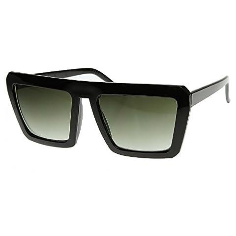 Sonnenbrille KISS® - Stil CAZAL mod. SMOOTH - Hip-Hop-Vintage OLD SCHOOL Rapper Flat Top - SCHWARZ (Hip Hop Mode Sonnenbrillen)