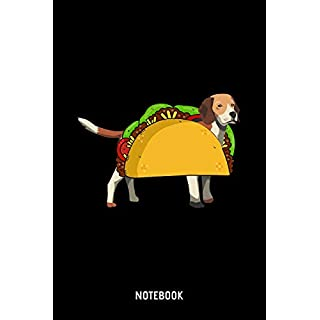 Notebook: 6x9 Blank Dot Grid Tacodog Notebook Or Taco Book - Anagram Journal Or Funny Diary for Men and Women