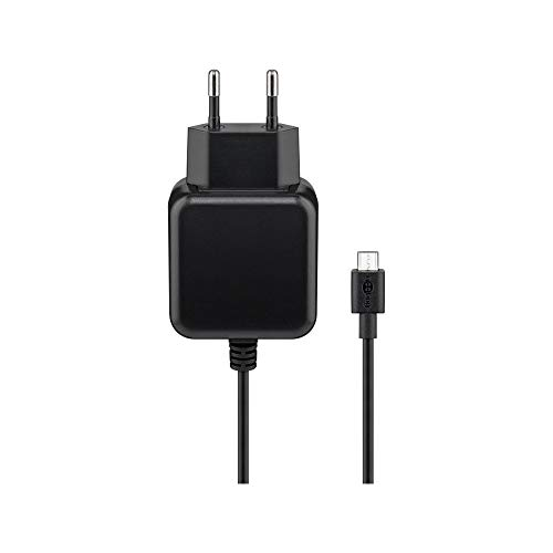 Goobay 56746 Micro USB Ladegerät 3,1 A Netzteil  Ersatz-Ladegerät Stromversorgung Ladekabel für Raspberry Pi sowie Smartphones, Androidgeräte und Tablets
