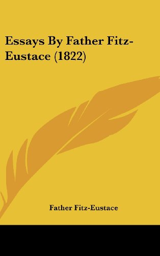 Essays by Father Fitz-Eustace (1822)