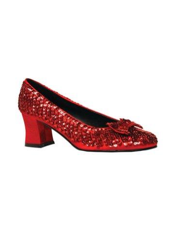 Rot Pailletten Damen Kostüm Schuhe, Red Sequins - Größe: 41 EU