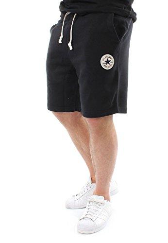 Converse Homme Left Logo Sweat Shorts, Noir Noir