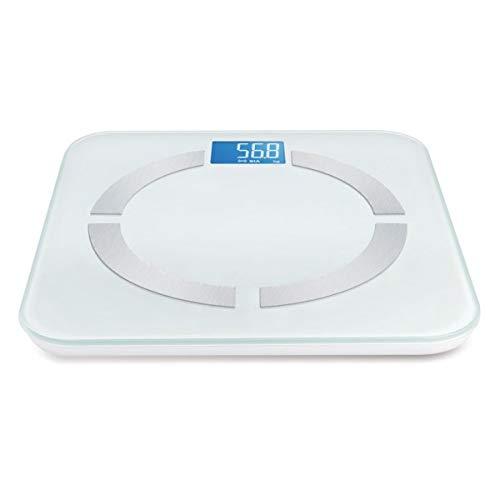 Bilancia Body Fat, analizzatore massa grassa, colore bianca con BLUETOOTH