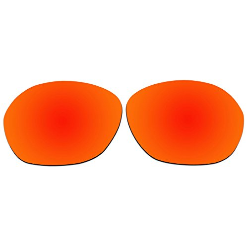 ACOMPATIBLE Ersatz Linsen für Oakley Warm Up oo9176Sonnenbrille, Fire Red Mirror - Polarized, S