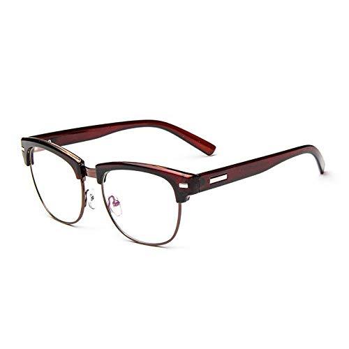 YMTP Designer Vintage Metall Halbrahmen Eyewear Gläser Optische Plain Brillen Rahmen Für Frauen Und Männer