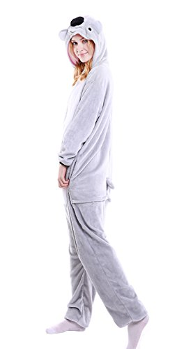 Ainibab Unisex-Erwachsene Cosplay Schlafanzug Schlafanzug Koala Bär Grau (Größe XL: 178-188 cm), Koala