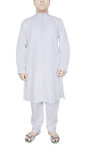Männer Kleidung Indien Kurta-Pyjama für Hochzeit indischen Kleid Kostüm weiß