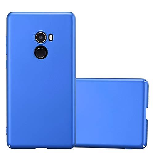 Cadorabo Hülle für Xiaomi Mi Mix 2 - Hülle in Metall BLAU - Hardcase Handyhülle im Matt Metal Design - Schutzhülle Bumper Back Case Cover
