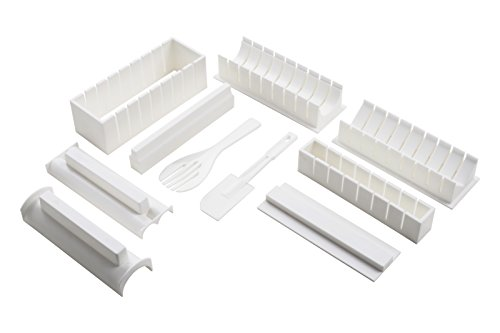 Premier Housewares Macchina per fare il Sushi da 10 pezzi, colore: bianco