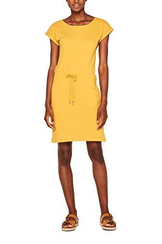 ESPRIT Damen 049Ee1E004 Kleid, Gelb (Brass Yellow 720), Medium (Herstellergröße: M) - Gelb Damen Kleider