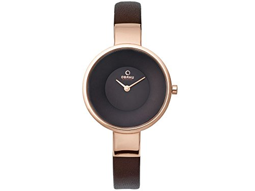 Obaku V149LXVNRN V149LVNRN - Reloj para mujeres, correa de cuero color marrón