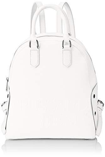 Trussardi Jeans Melly Backpack, Zaino Donna, Bianco, 26.5x30x11 cm (W x H x L)