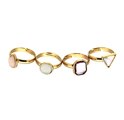 sweet deluxe 5808 Damen Ring Set Pirjo, gold/mix, bestehend aus 4 - Brilliant Damen Kostüm