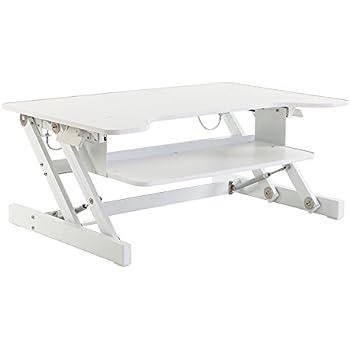 AmazonBasics Height Adjustable Sit Stand Desk Converter Amazonco