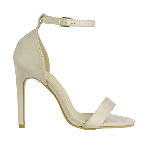 BeMeesh Zapatos Tacón Alto Mujer Sandalias Stilettos