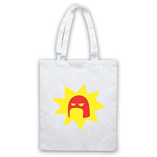 Inspiriert durch Super Crimson Bolt Logo Inoffiziell Umhangetaschen Weis