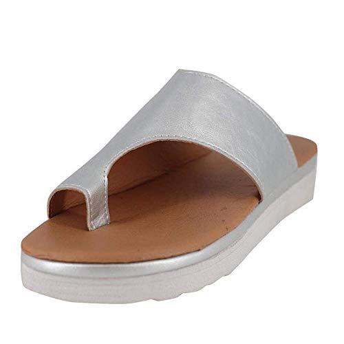 2019 Mode Frauen Bequeme Plattform Sandale Schuhe, Pu-Leder Keilabsatz Sandalen Big Toe Fuß Orthopädische Schuhe Sommer Strand Reise Schuhe Bequeme Wandersandalen -