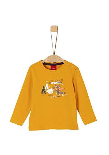 s.Oliver Baby-Jungen 65.909.31.8916 T-Shirt, Gelb (Dark Yellow 1549), (Herstellergröße: 80)