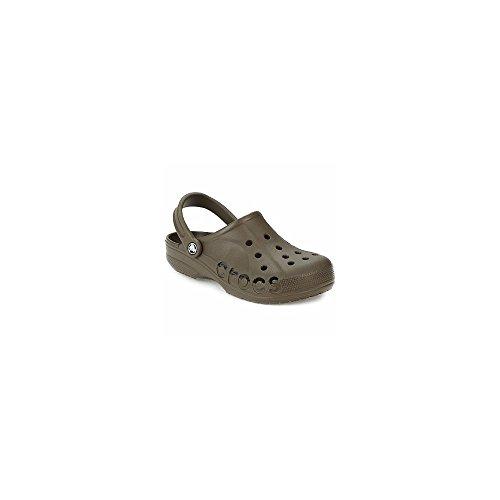 crocs Mens Baya Schokolade Pantoletten/Clogs 37/38 - Chocolate Brown Croc