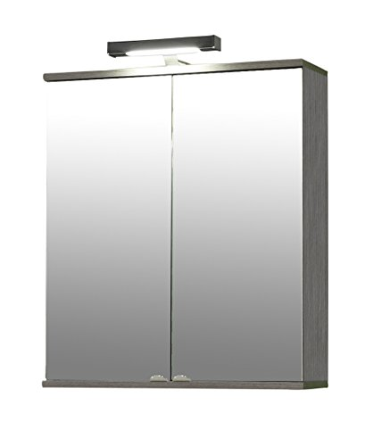 Spiegelschrank Esche von Schildmeyer - Spiegelschrank Esche grau