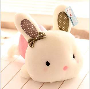ahzha Echte Süßigkeiten-farbige Kleine Weiße Kaninchen Puppe Liegen Kaninchen Schmetterling Kaninchen Kratzmaschine Plüsch Spielzeug Geburtstagshochzeitsgeschenk g (Robbe Puppe)