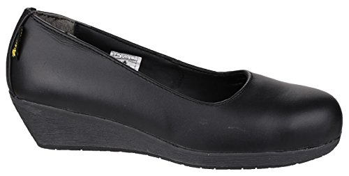 Di Ambler Fs107 Ladies tacco scarpa di sicurezza Nero