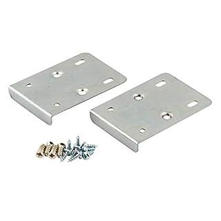 Küche Schrank Tür Scharnier Reparaturset enthält 2Platten und Befestigungsschrauben-Silber
