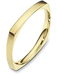 18ct Yellow Gold, Square Comfort 2.5MM Wedding Band (sz H to Z3)