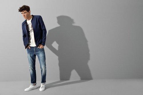 SELECTED HOMME Herren Straight Leg Jeans Three 4161 Blau (Dark Blue Denim)