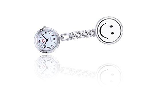 fob guardare al quarzo per le donne con ciondolo faccina orologio (Orologio Di Grandi Dimensioni Fob)
